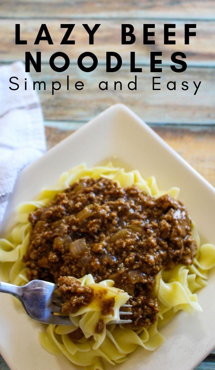 Lazy Beef & Noodles images
