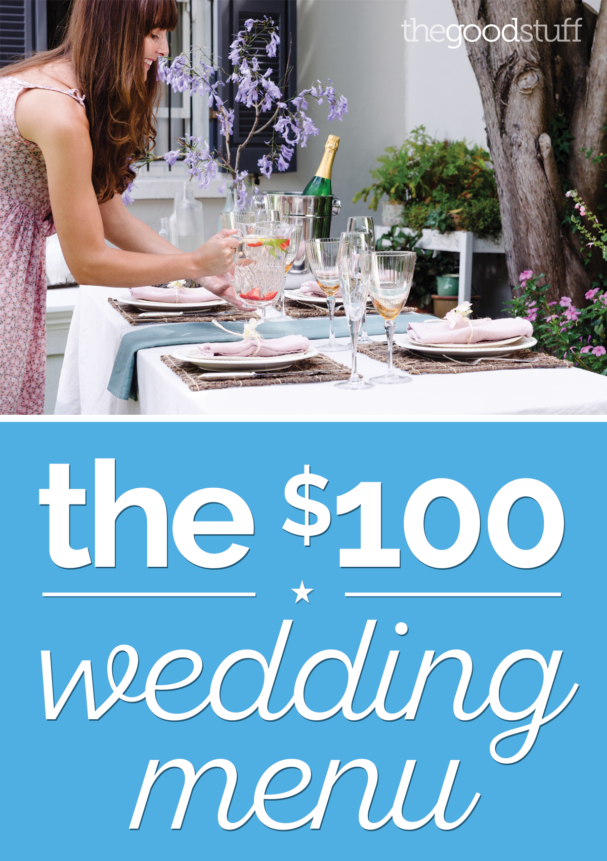 A DIY Wedding Menu for Just $100 | Wedding menu, DIY wedding and Menu