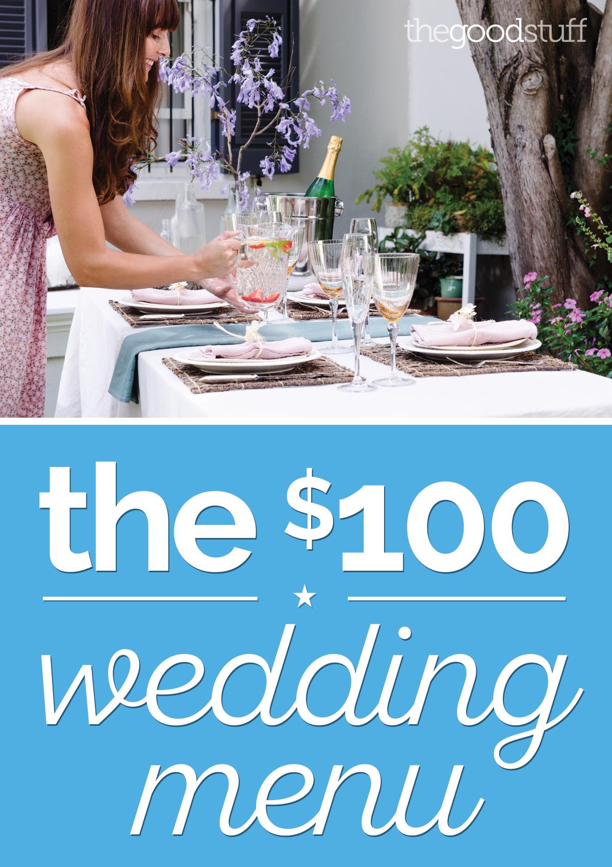 Vegetable menu for wedding