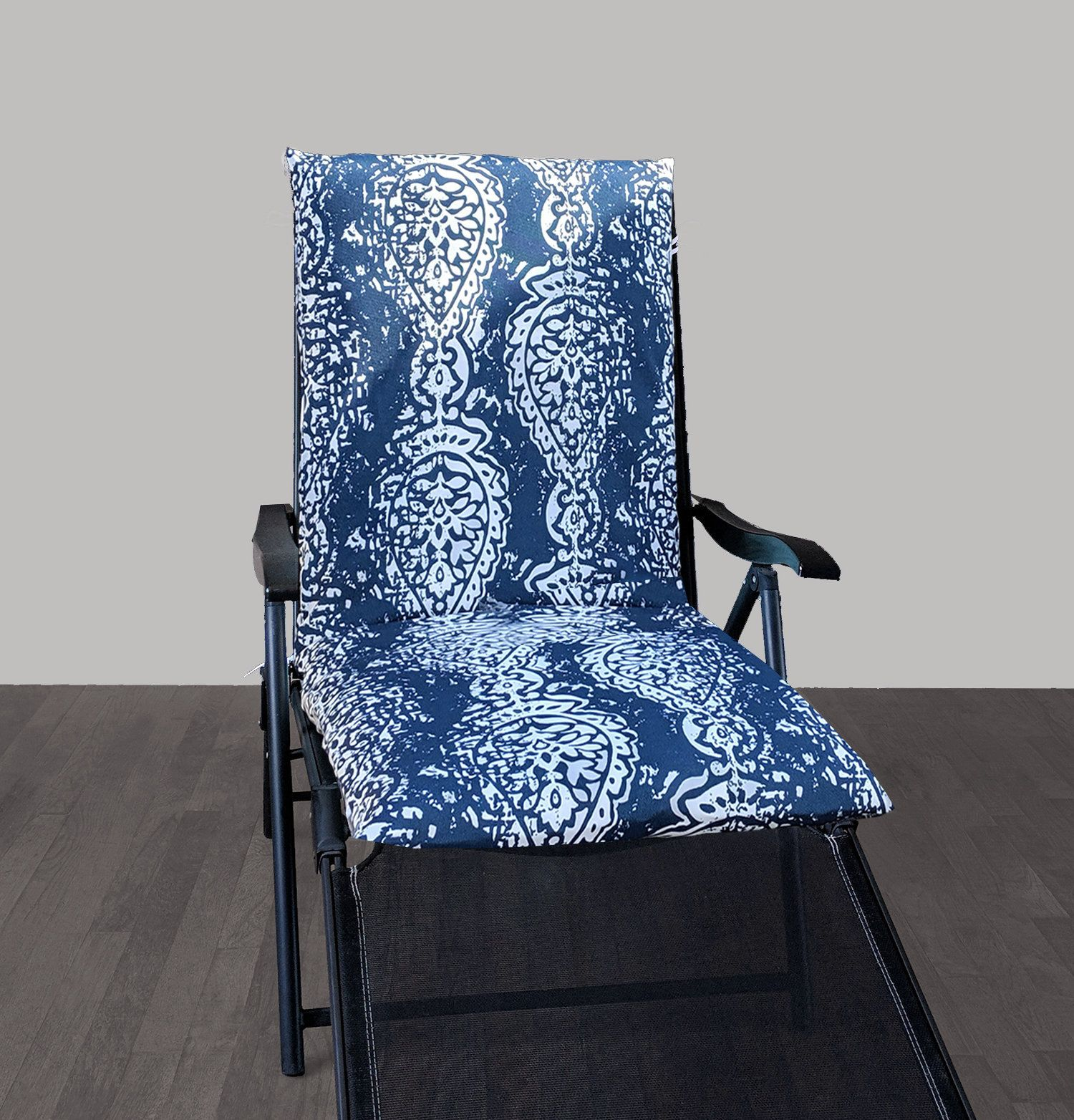 Ikea back seat pad cover navy blue outdoor ikat print