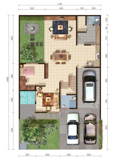 Denah Type Majestica Lantai 1 House Layouts Compact House House Inspiration
