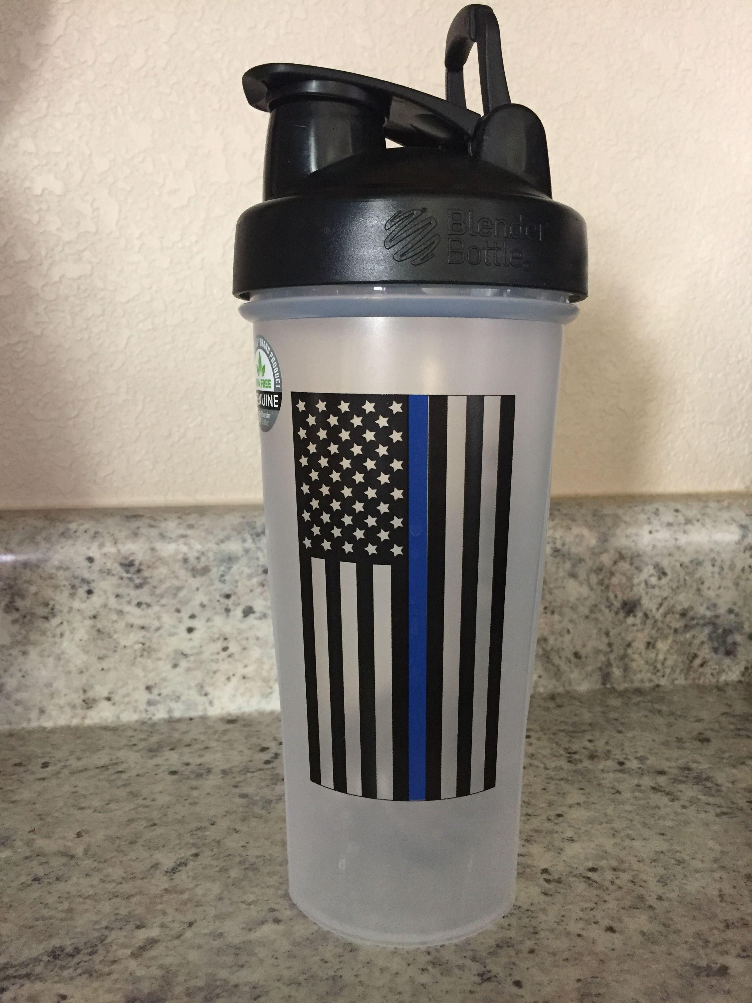Blue Line Shaker Blender Bottle Military Cup Shake And Take 3 2