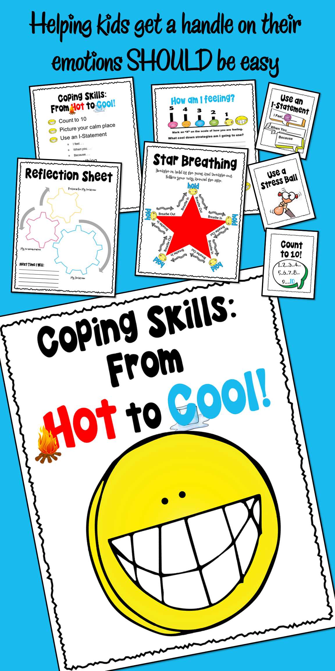 Coping Skills From Hot To Cool Cbt Behavior Reflection