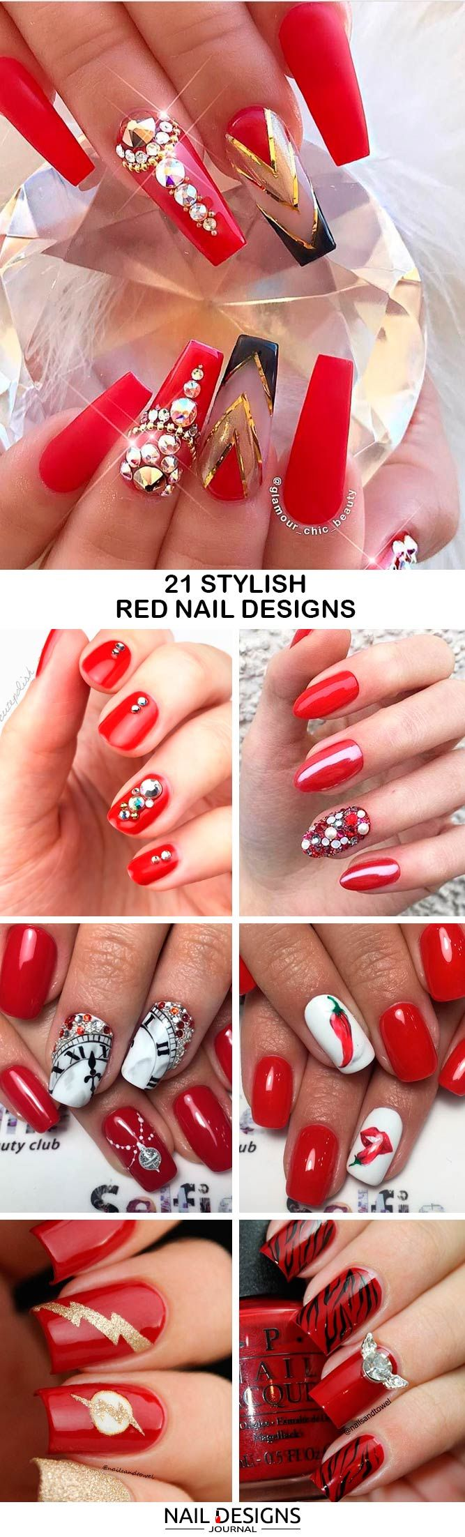 Red Nail Designs Truly Stand Out Among All Other Colors Besides Being Bright And Beautiful Polish Is Universal Also Very Powerful