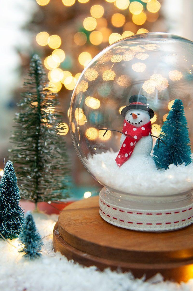 Snow Globe Tutorial DIY Waterless Snow Globe Darice