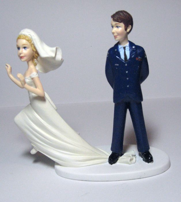 wedding cake toppers military runaway topper in air hahahaha just 26538