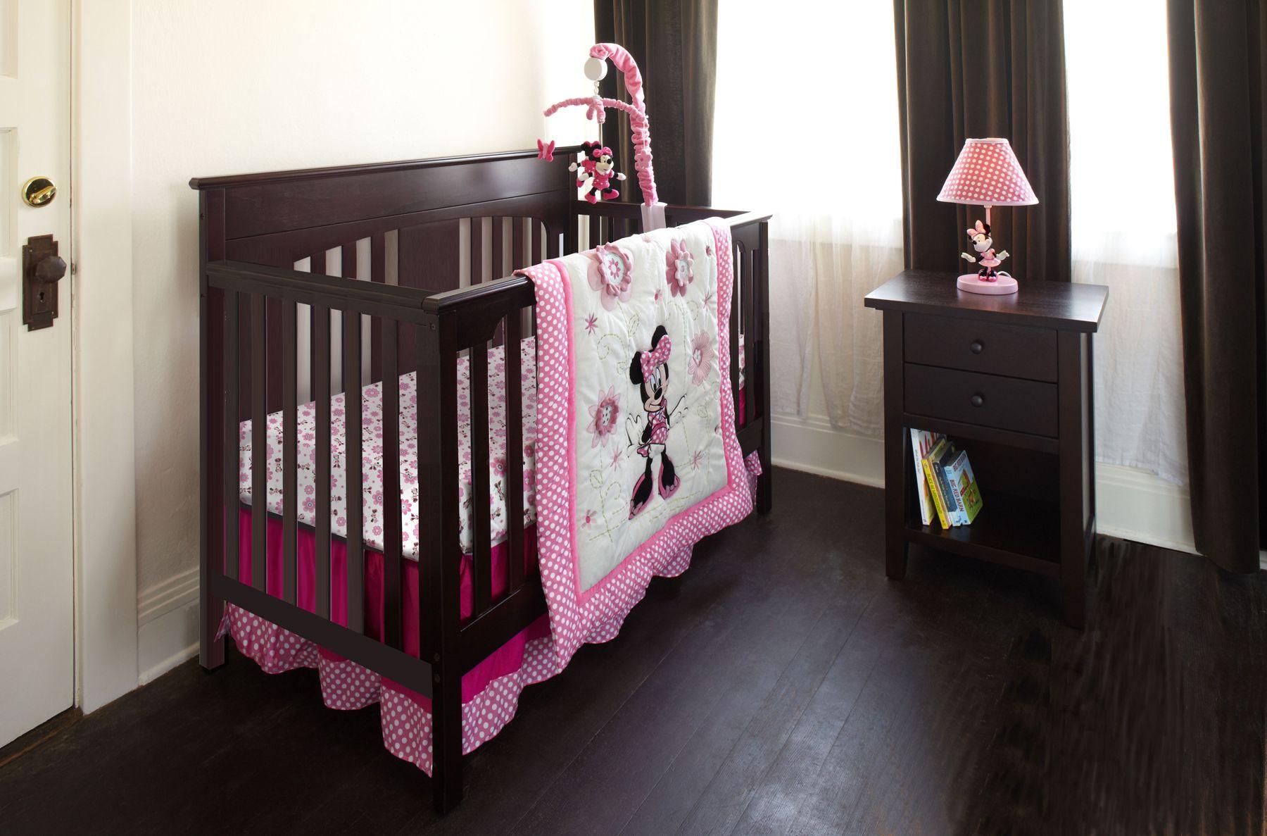 minnie mouse 6pc crib bedding set  minnie mouse bedding
