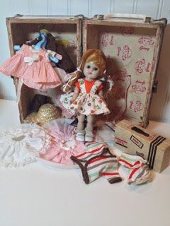 Mandaline Artful Living: Ginny doll and trunk restoration, pieces from 1957-1959.