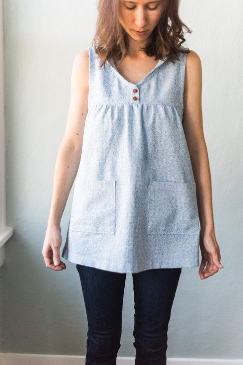 West Water Tunic designed by Squam. Features Polk by Carolyn Friedlander, shipping to stores July 2018. Pattern available for purchase (squamartworkshops.com) #tunicdesigns