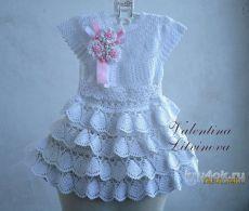 gancho del vestido del bebé.  Valentina trabajar Litvínova - ganchillo en kru4ok.ru