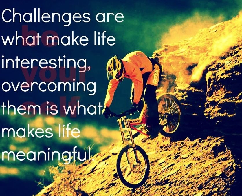 Overcoming challenges motivational quote via www.Facebook.com/BeYourself09