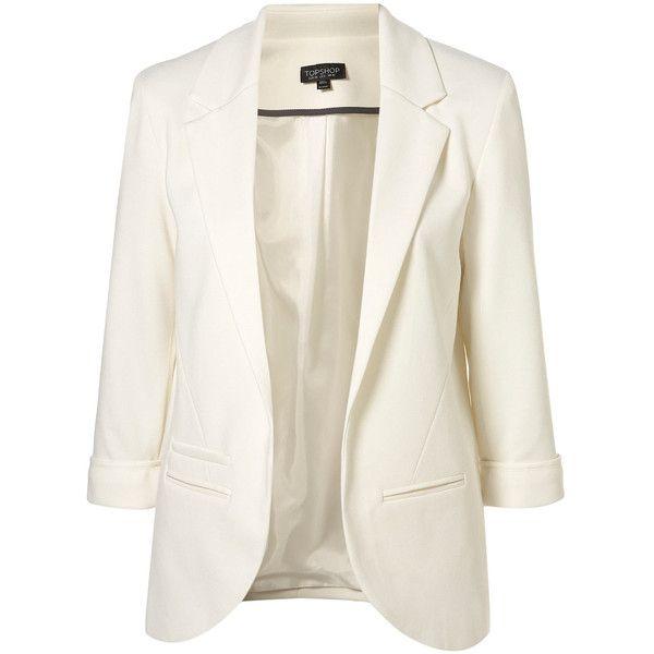 94e527b263 TOPSHOP Ponte Boyfriend Blazer (82 BRL) ❤ liked on Polyvore featuring  outerwear