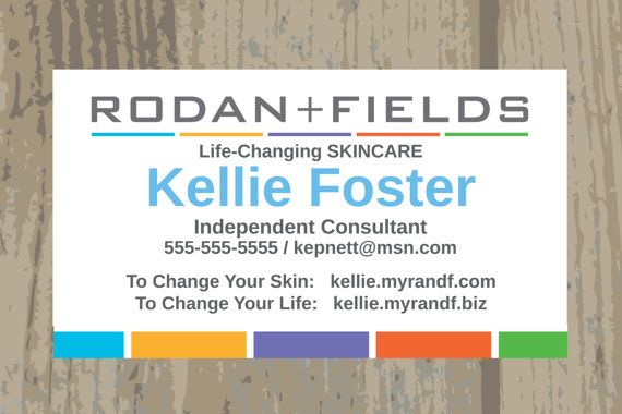 Rodan Fields Business Cards Printed Or