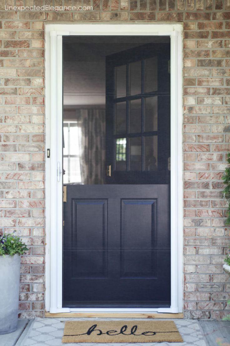 Blue Front Door With Storm Door