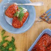 Photo of Hungarian Stuffed Peppers and Meatballs RR-Hungarian Stuffed…