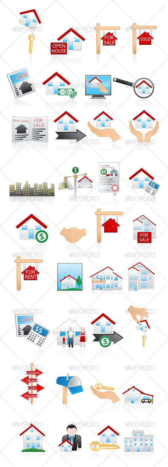 Real Estate Icons — Photoshop PSD #real estate #estate • Available here → https://graphicriver.net/item/real-estate-icons-/5181241?ref=pxcr