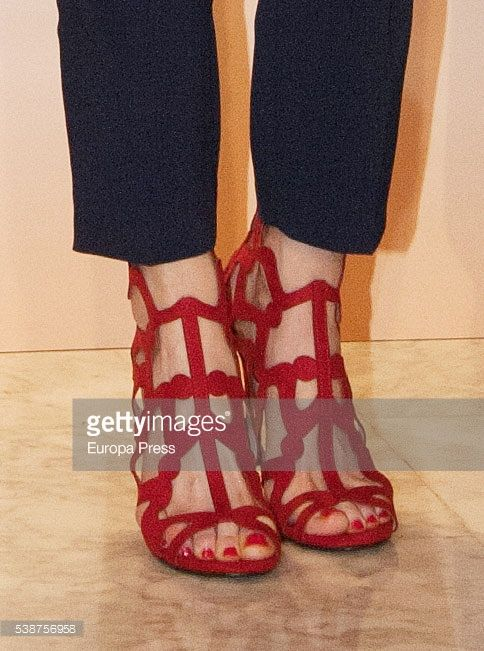 Queen Letizia of Spain. shoe detail, attends a lunch for