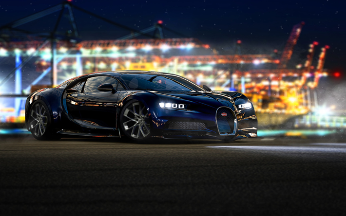 Download Wallpapers Bugatti Chiron Autosimulator 2018 Games Forza Motorsport 7