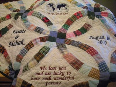 PERSONALIZED GREEN DOUBLE WEDDING RING QUILT | quilt | Pinterest ...