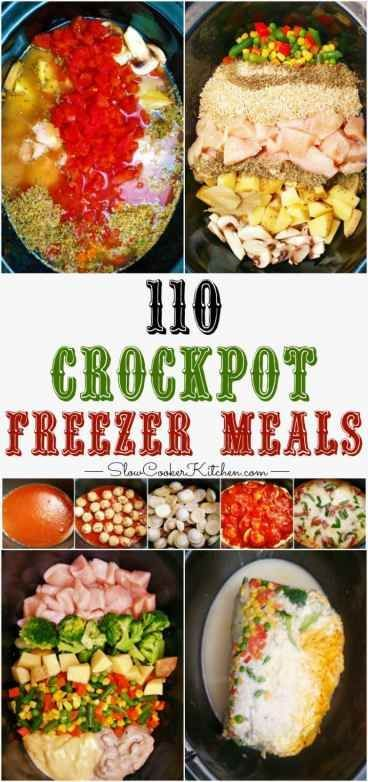 110 Crockpot Freezer Meals in 1 Afternoon #kochenundbacken