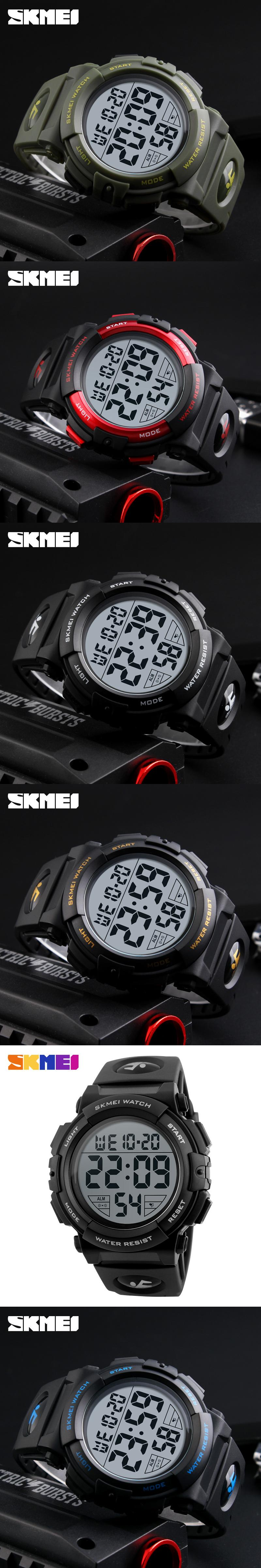 2595feb4b8c SKMEI 1258 MEN Digital Wristwatches 50M Waterproof Top Brand Luxury Shock  Resistant Chrono Complete Calender Relogio