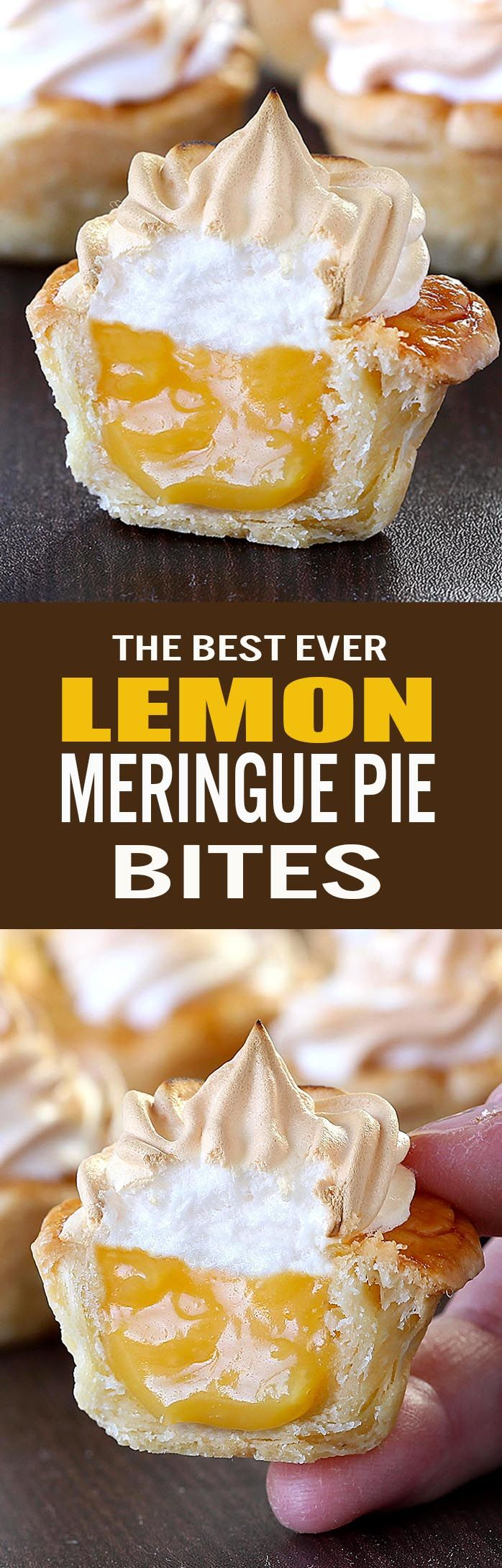 Lemon Meringue Pie Bites | Recipe | Homemade, Lemon meringue pie and ...