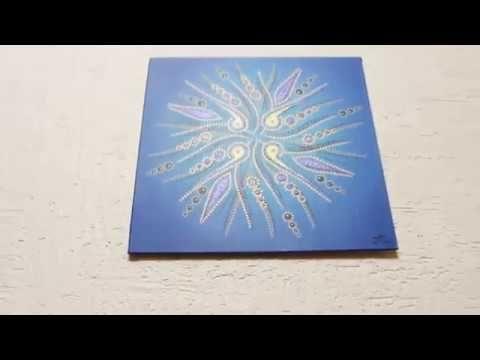 Toile #contemporaine  #Mouvement de #formes #bleues #aperçu #vidéo