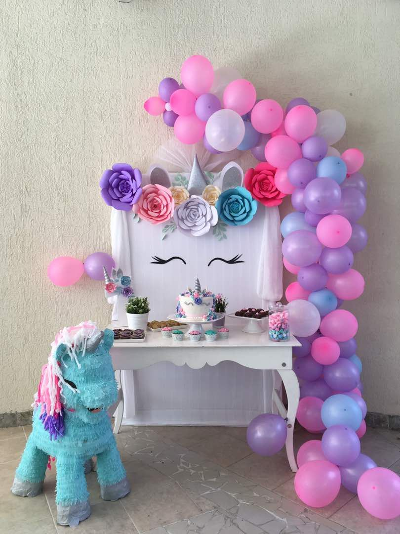 Idea For Small Frame Birthday Parties Tangled Party Unicorn