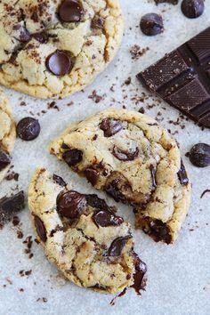 Chocolate Lover's Chocolate Chip Cookie Recipe on twopeasandtheirpod.com Chocolate chip cookies with chocolate chips, chocolate chunks, and grated chocolate. These cookies are loaded with chocolate and the BEST chocolate chip cookies!