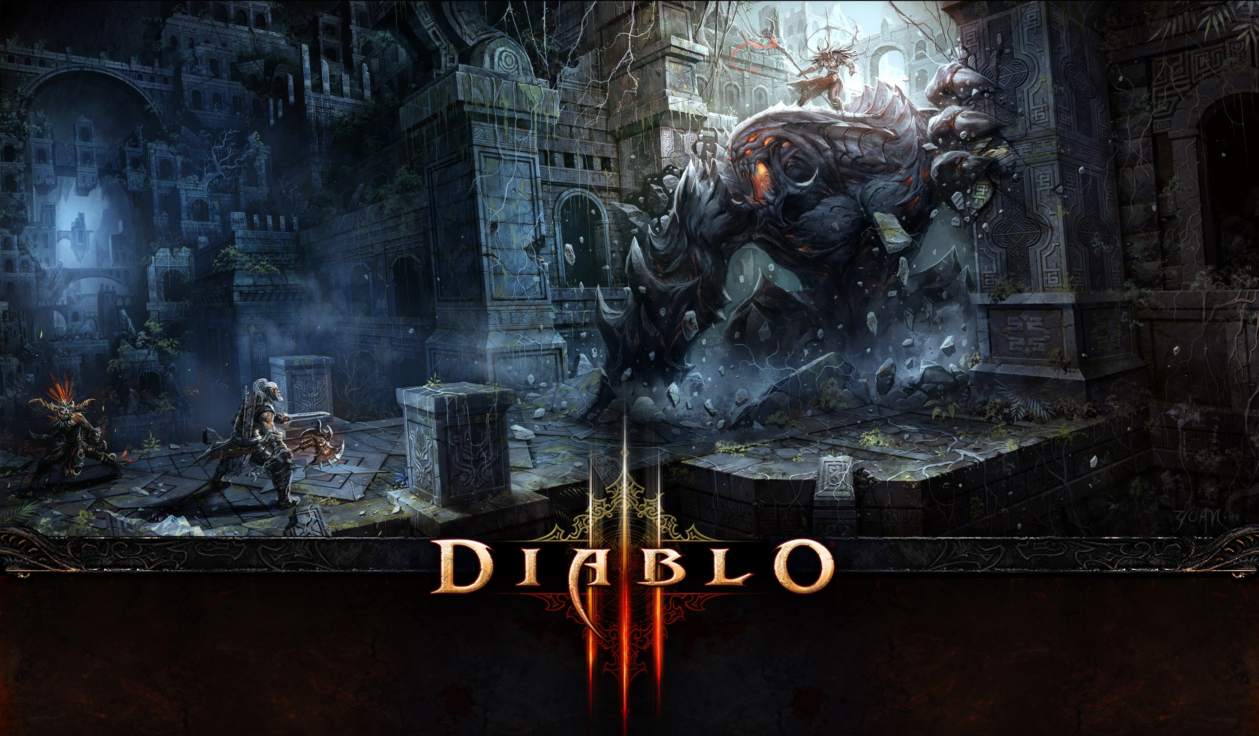 4k Diablo Iii Hd Wallpaper 4000x2339