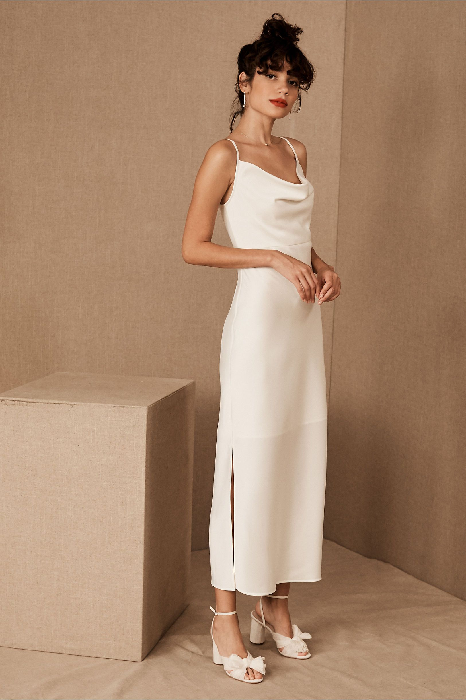 Kari Dress From Bhldn Courthouse Wedding Dress Little White Dresses Engagement Party Dresses [ 2440 x 1625 Pixel ]