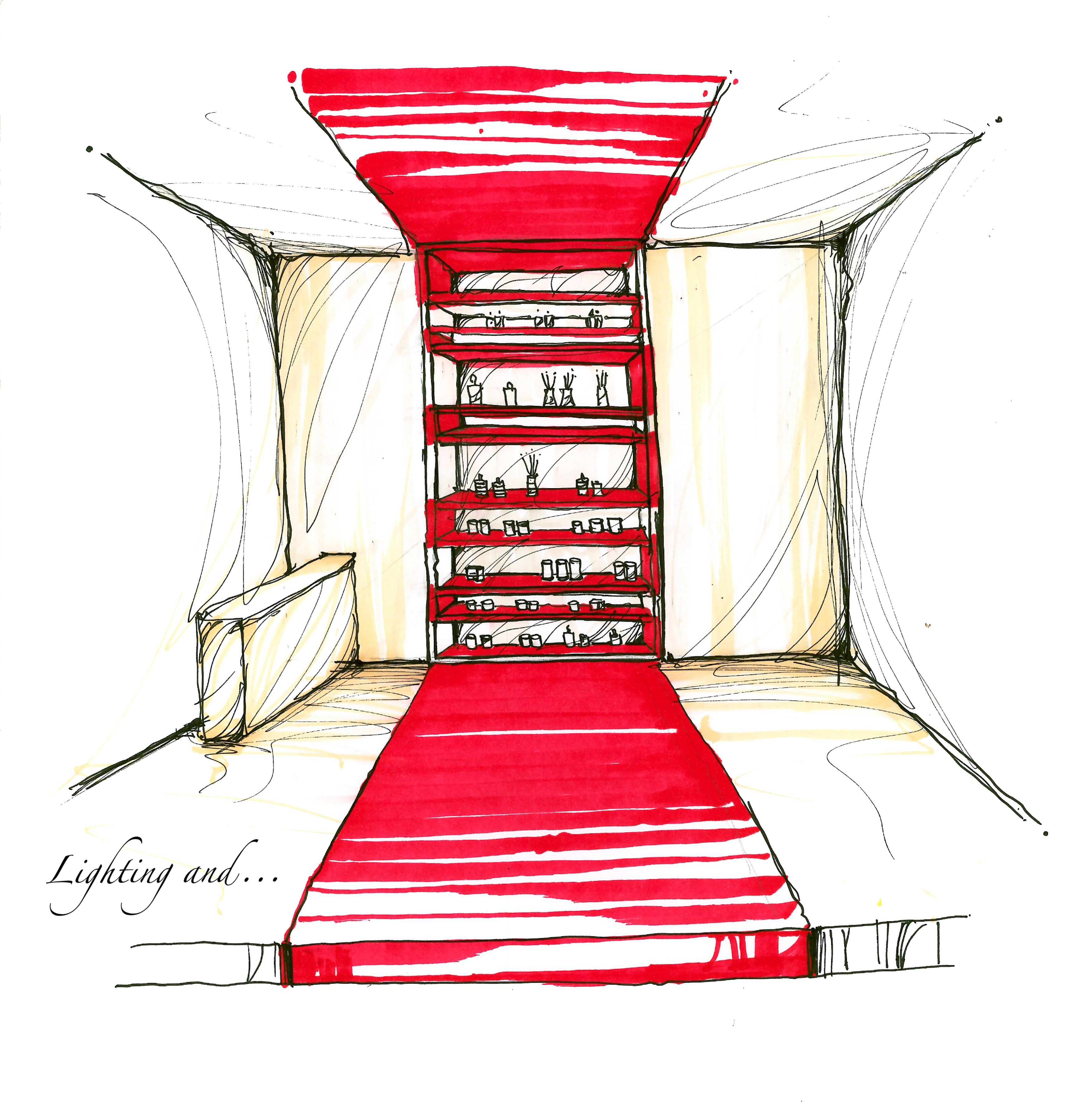 Fast hand sketch to present our ideas at the moment for the interior design . #sketch #schizzo #luce #light #dessiner #design #disegno #colors #colori #conception #lumière #handsketch #milano #italia #italy #color #colori #retail #negozio #lightingand #fast #veloce