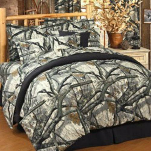 Mossy Oak Treestand Camouflage 6 Pc Twin Comforter Set Great For The Cabin