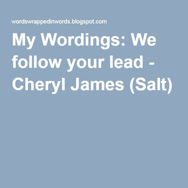 We Follow Your Lead - Cheryl James