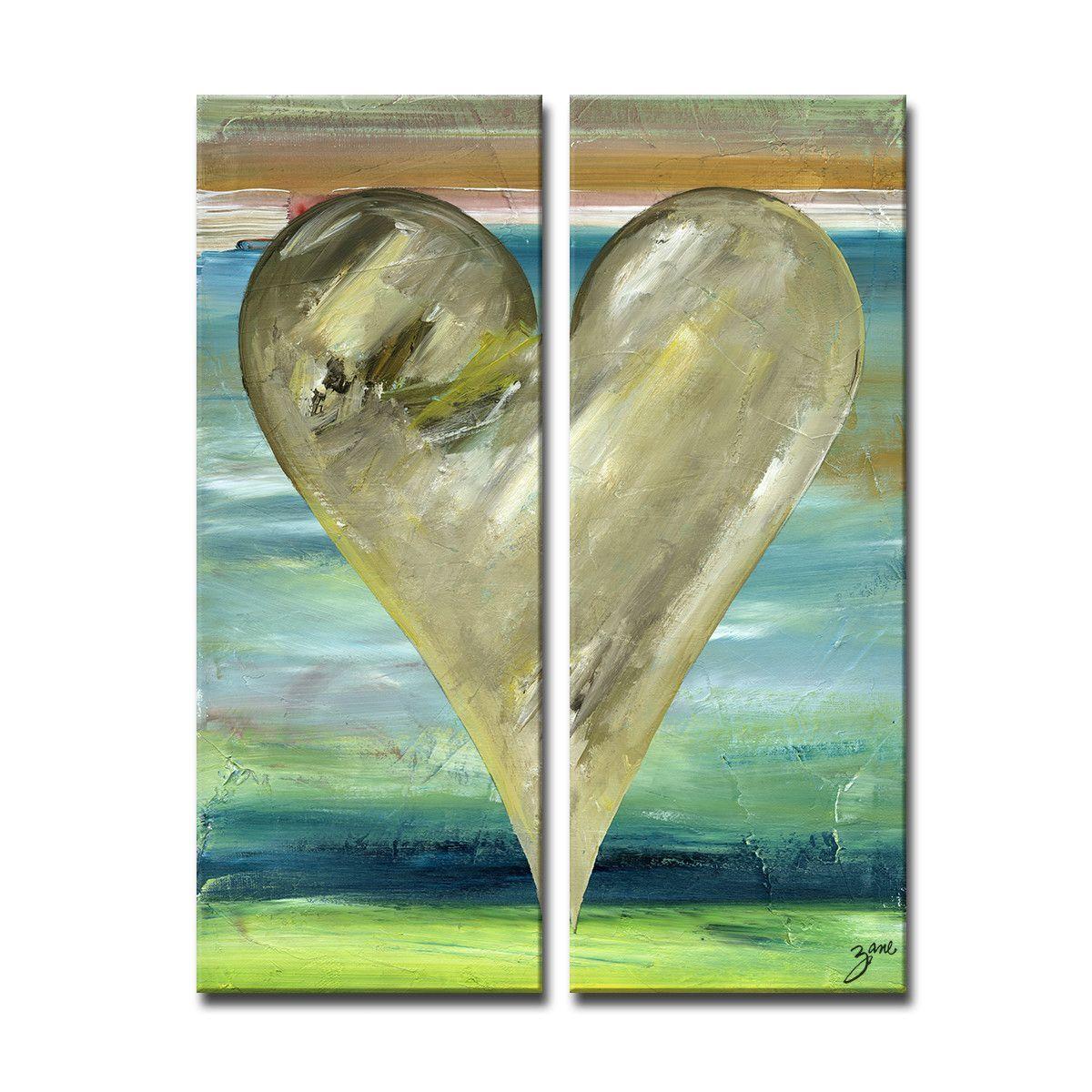 "Zane Heartwork ""Karachi"" 2 Piece Painting on Canvas Set"