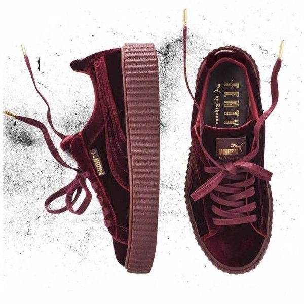 sale retailer d4865 587d0 Rihanna Fenty x Puma Creepers Velvet PRE-ORDER Burgundy Size ...