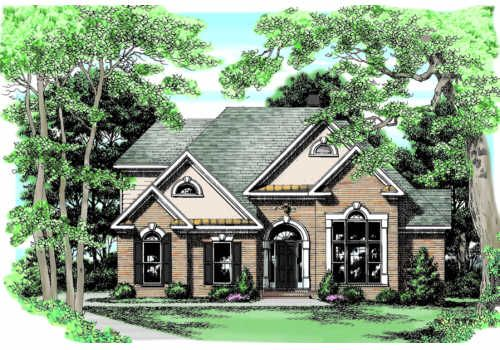 Weldon House Plan Traditional Brick And Stucco Accents Are The Materials Of Choice For The Weldon Design American Houses House Best House Plans