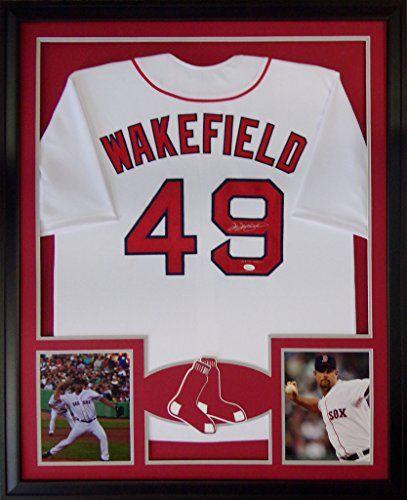 Tim Wakefield Framed Jersey Signed JSA COA Autographed Boston Red ...