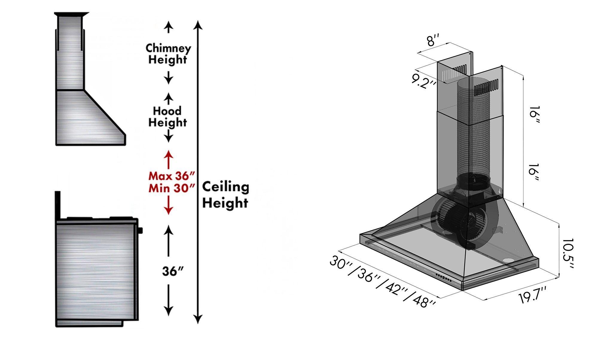 Zline 36 Stainless Steel Wall Range Hood Kb 36 Wall Mount Range Hood Stainless Steel Range Range Hood