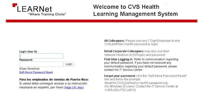 CVS LearNet   Websites   Website, Train