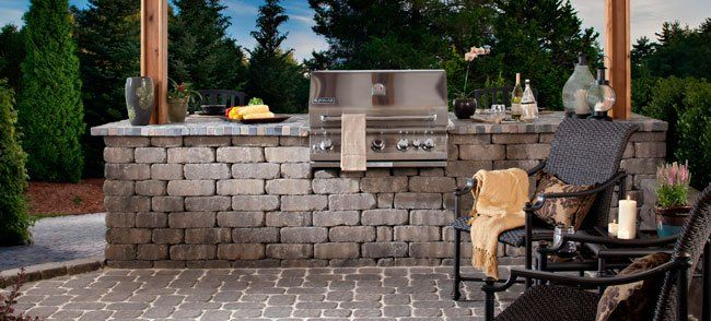 Build A Grill Surround Using Wall Block