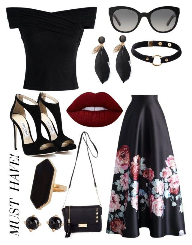 Floral skirt by ilovepartystyle on Polyvore featuring polyvore, fashion, style, Chicwish, River Island, Jaeger, Nika, Irene Neuwirth, Burberry, Lime Crime and clothing