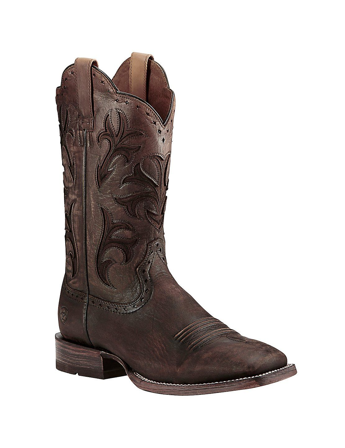 af1a454491e Ariat Men's Chocolate Ombre Western Square Toe Boots | Cavender's ...