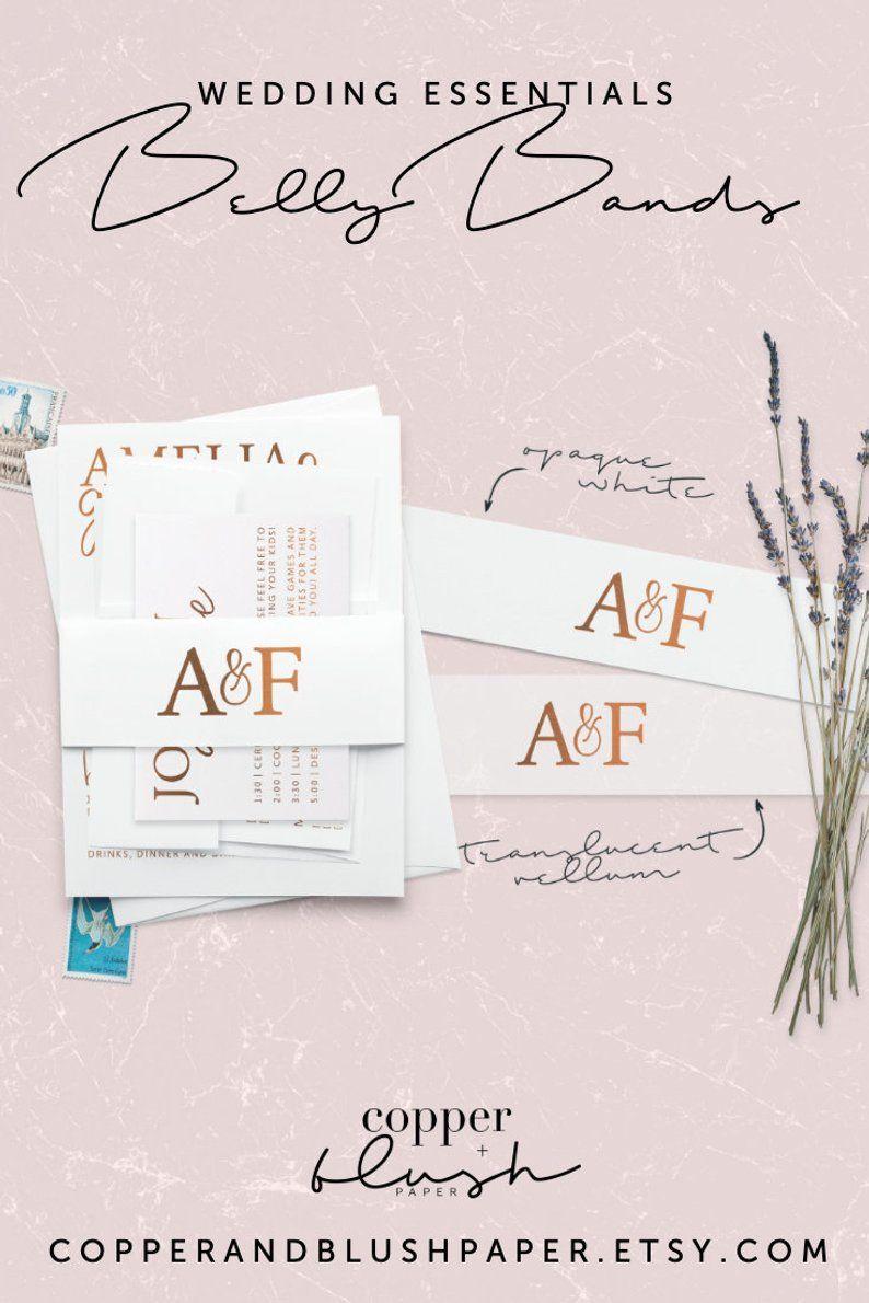 Custom luxury paper belly band for weddings printed