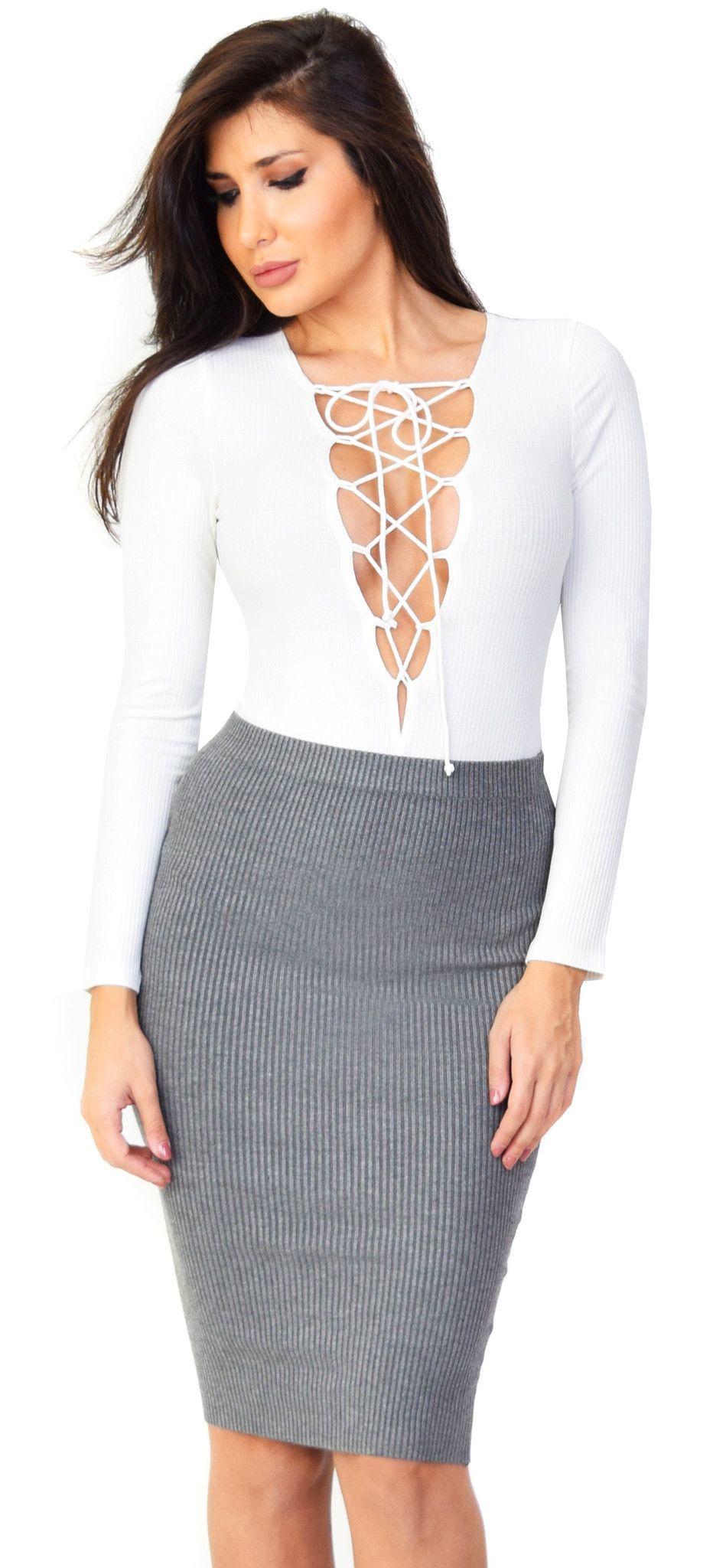 Off white lace up bodysuit fall fashion pinterest white lace