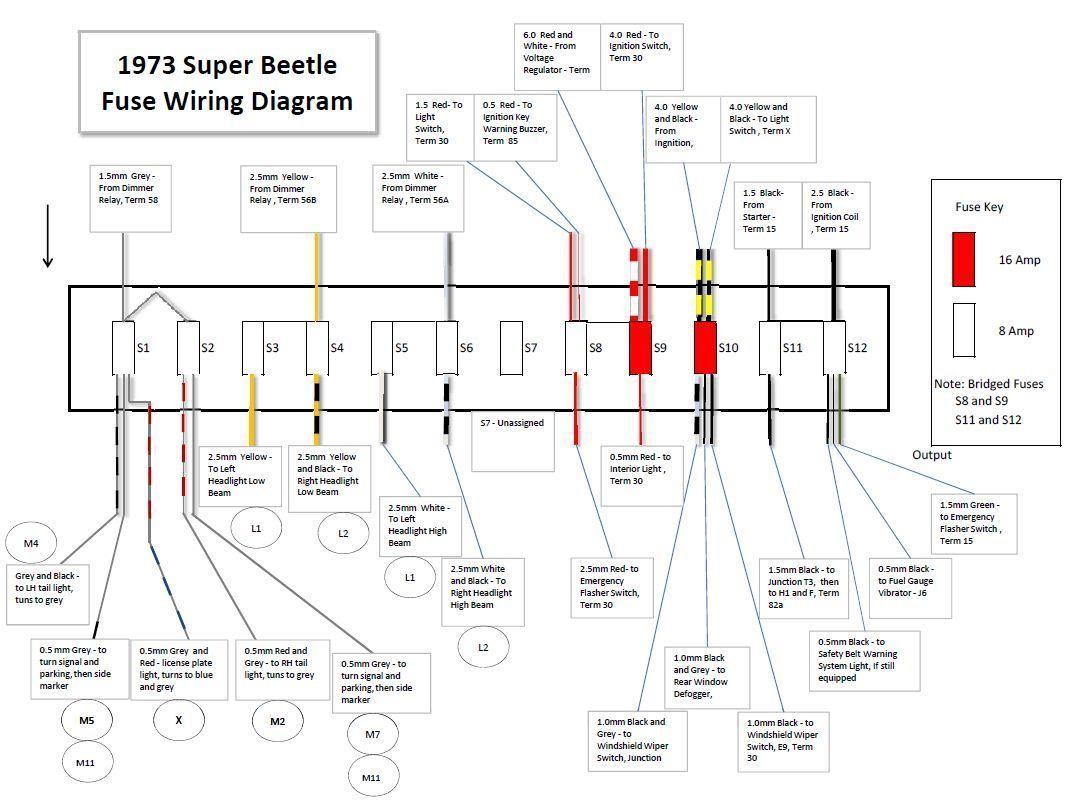 1971 Vw Bug Wiring Diagram Schematic