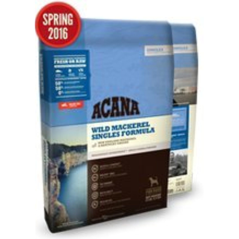 Acana singles wild mackeral dry dog food 45lbs you