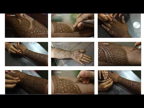 Leg Mehndi Designs Step By Step : Full hand mehndi design tutorial front and back step by