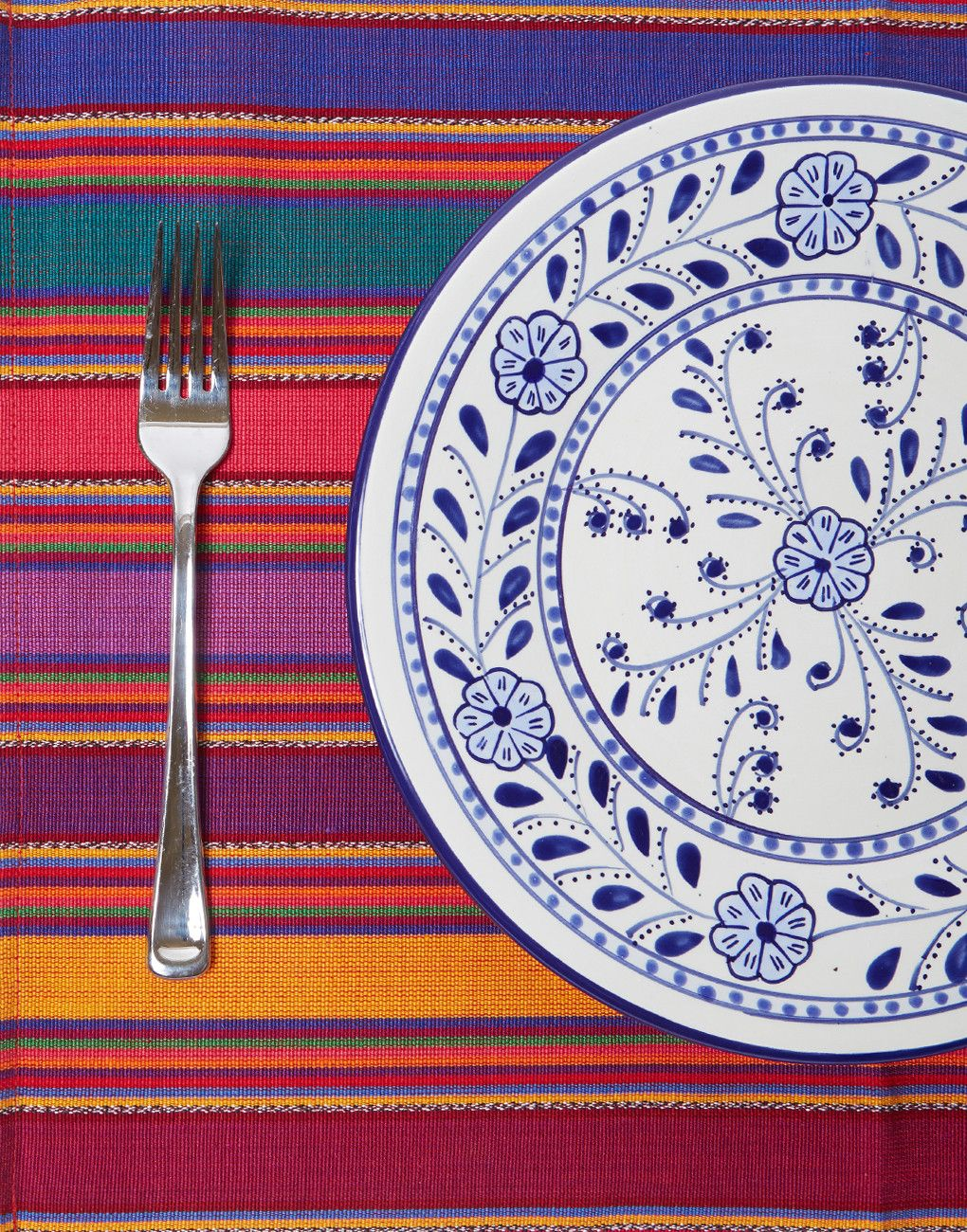 Fiesta Placemat Red Placemats Bright Table Hand Weaving
