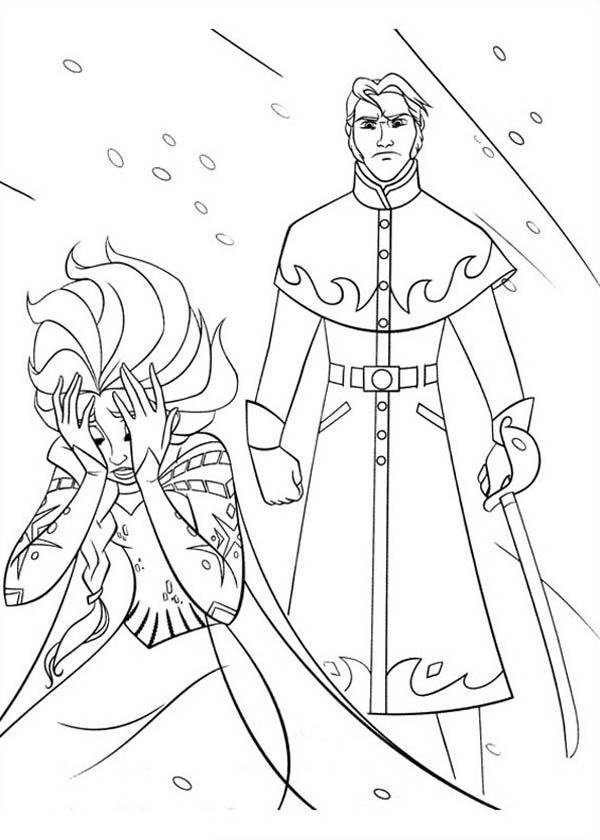 Powerless Elsa With The Duke Of Weseltons Thugs Coloring Page Download Print Online Coloring Pages Elsa Coloring Pages Elsa Coloring Online Coloring Pages